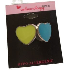 Urbanology New Heart Colored Ring Size 8